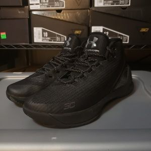 Under Armour Steph Curry 3 Triple Black sz 9